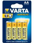 Tužkové batérie Varta SUPERLIFE AA 4 ks