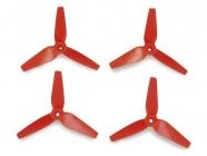 3D prop, trojlisté 5x3,5 vrtule, 4ks. - červené
