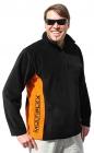852927 čierna fleece mikina S