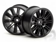 Disky kolies 26mm čierne - paprsok (pár)