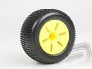 Gumy nalepené, 1:10 TRUGGY, žlté disky (2ks)