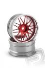 Hliníkový disk 10 paprskov, offset 6 mm - červená farba (2 ks)