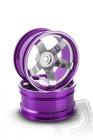 Hliníkový disk 5 paprskov, offset 6 mm - fialová farba (2 ks)