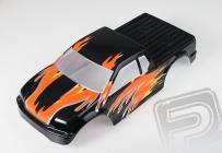 Karoséria lakovaná Himoto Truck 1:10 (čierno-oranžová)
