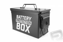 Kovový kufor na batérie