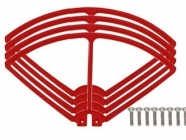 Syma X8C-04R kryty rotorových listov, červená