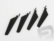Listy rotora, súprava (čierna) - V4 COLIBRI, Solo V1