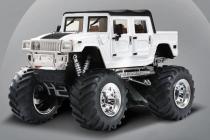 Mini RC Monster Truck, biela