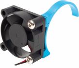 Motor vetráčik 30 x 30 mm s držiakom – modrý