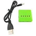 Nabíjačka USB 5x slot pre Li-Pol batérie 3.7V