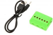 Nabíjačka USB 6x slot pre Li-Pol batérie 3.7V