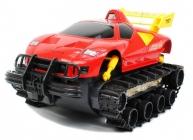 RC obojživelné pásové vozidlo, červená