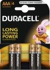 Batérie Duracell Basic AAA 4ks