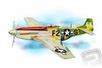 P-51 Mustang (705mm) laser.vyrezávaný