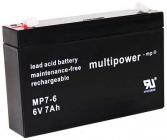 Pb akumulátor MULTIPOWER 6 V/7,0 Ah