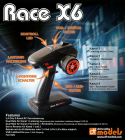 RACE X6 – 5ch RC súprava s multi-switch modulom