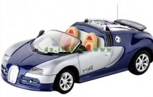 RC kovové mini auto Bugatti, modrá