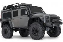 RC auto Traxxas TRX-4 Land Rover Defender 1 : 10 TQi RTR, sivá