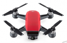 RC dron DJI Spark (Lava Red version) + vysielač