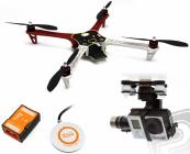 RC dron F450, Naza-M V2, GPS, podvozok, adapter..
