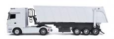 RC kamión sklápač Mercedes-Benz Actros, biela