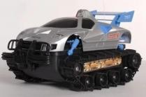 RC obojživelné pásové vozidlo, strieborná
