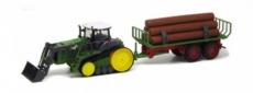 RC pásový traktor s prívesom