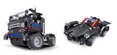 RC stavebnica kamión a športiak 2v1, čierna