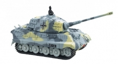 RC tank King Tiger 1:72, šedá farba