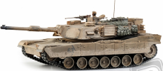 RC tank M1A2 Abrams desert, patinovaný