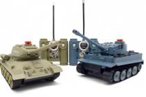 RC tanky German Tiger a ruský T34