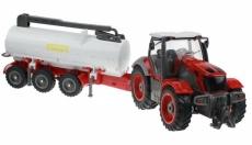 RC traktor s cisternou, červená