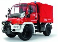 RC Unimog hasiči, červená
