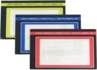 SANWA M12 farebné LCD-Panely, sada modrá, žltá a červená