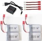 Set 4 batérií s nabíjačom