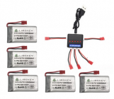 Set 5 náhradných batérií 1200mAh s multinabíječem