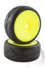 Cestná guma vrátane plného žltého disku, 2ks.