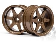 TE37 disky 26mm bronzové (6mm OFFSET)