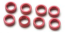 Traxxas - distanční kroužek hliník červený (8)