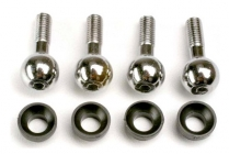 Traxxas - kulové čepy s pouzdrem (4)