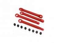Traxxas - plastové táhlo stabilizátoru červené (4)