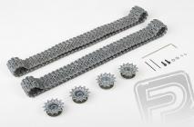 Upgrade kit tunning - kovové pásy, kolesá (pre 3838)