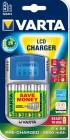 VARTA LCD charger + 4x AA 2600 mAh + adaptér 12 V + USB in