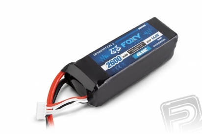 FOXY G2 Li-Pol 2600mAh/14,8V 40/80C 38,5Wh