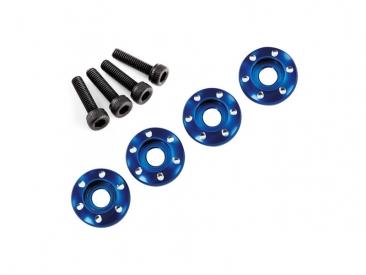 LaTrax - Podložka disku hliník modrý, šroub M3x12mm CS (4)