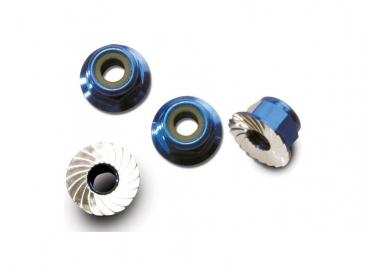 Matice s přír. samojistná hliník modrá M4 (4)
