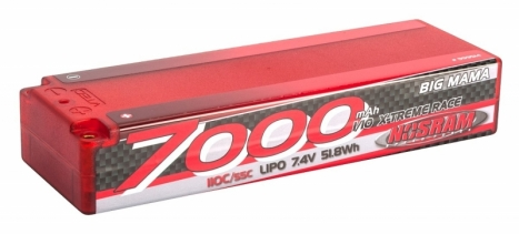 NOSRAM 7000 - Big Mama - 110C/55C - 7.4V LiPo - 1/10 Competition Car Line Hardcase