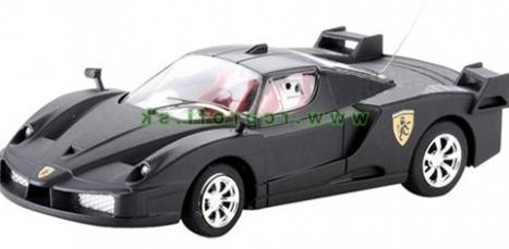 RC kovové mini auto Ferrari, čierna