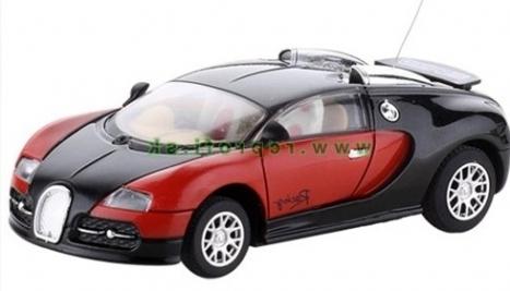 RC kovové mini auto Bugatti, čierna