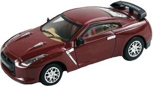 RC kovové mini auto, vínový Nissan